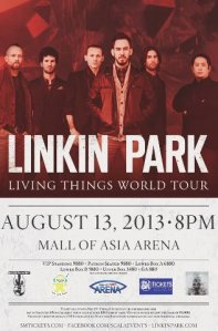 linkin park in manila 2013