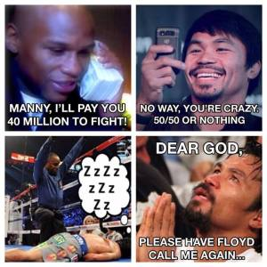 manny pacquiao floyd mayweather christmas card