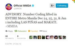 MMDA number coding