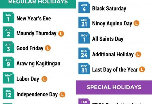 Philippine holidays for 2015: Eight long weekends coming up