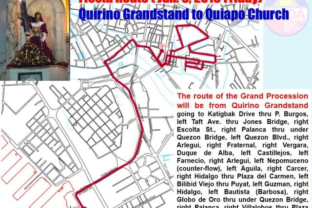 READ IT HERE: Traslacion 2015 procession route and flow of activities