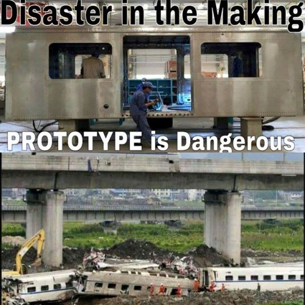 The proposed MRT prototype may be too dangerous for the riding public