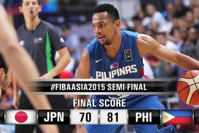 2015 FIBA ASIA CHAMPIONSHIPS | Gilas Pilipinas beats Japan; sets finals duel vs China