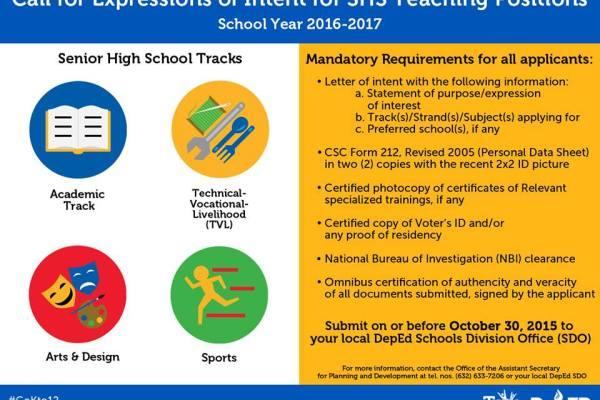 teaching vacancies deped 2016