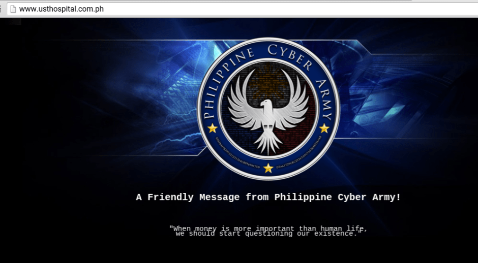 UST hospital website hacked