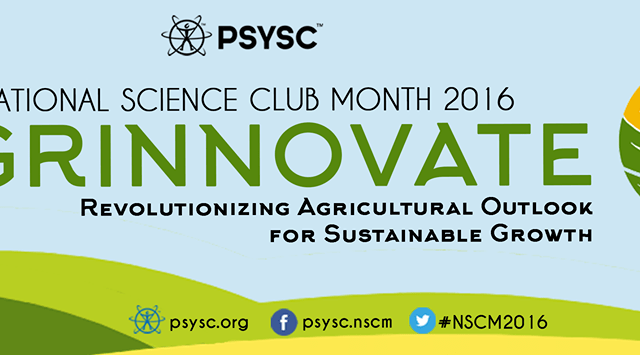 """National Science Club Month 2016 theme – """"AGRINNOVATE"""""""