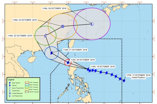 #WalangPasok – Class suspensions for October 20 2016 due to super typhoon 'Lawin'