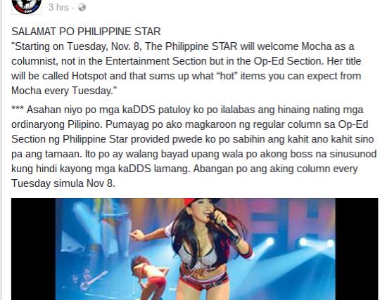 Mocha Uson: From sexy entertainer to President Duterte's top social media surrogate