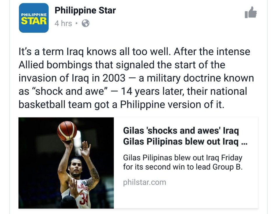 Shock and awe - Philippine Star