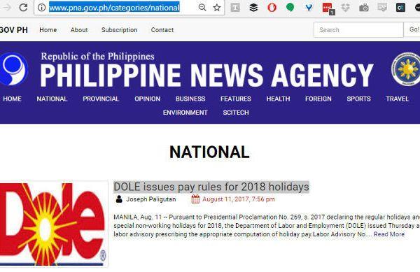 Philippine News Agency DOLE foods logo