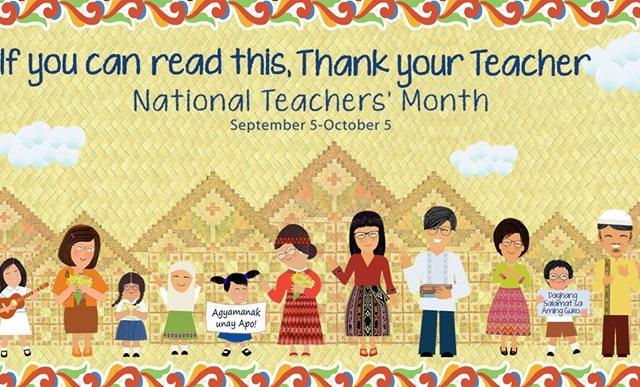 "National Teachers Month theme 2017 – ""Gurong Pilipino: Kaakbay sa Progreso"""