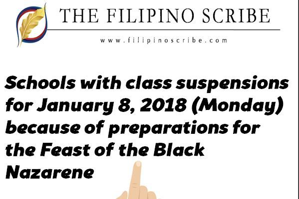 january 8 2018 class suspensions