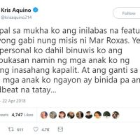 Kris Aquino goes to war vs Korina Sanchez over 'Rated K' episode with James Yap