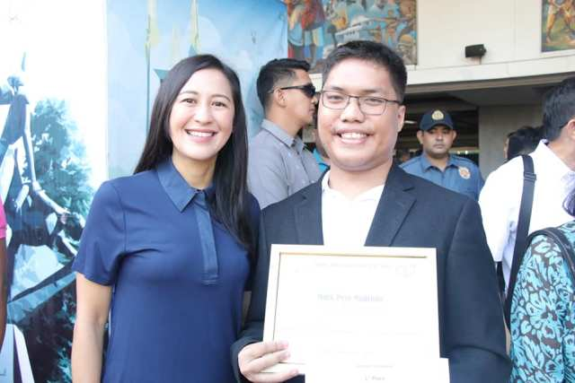 On winning first prize in the 2019 Metro Manila Film Festival essay writing contest