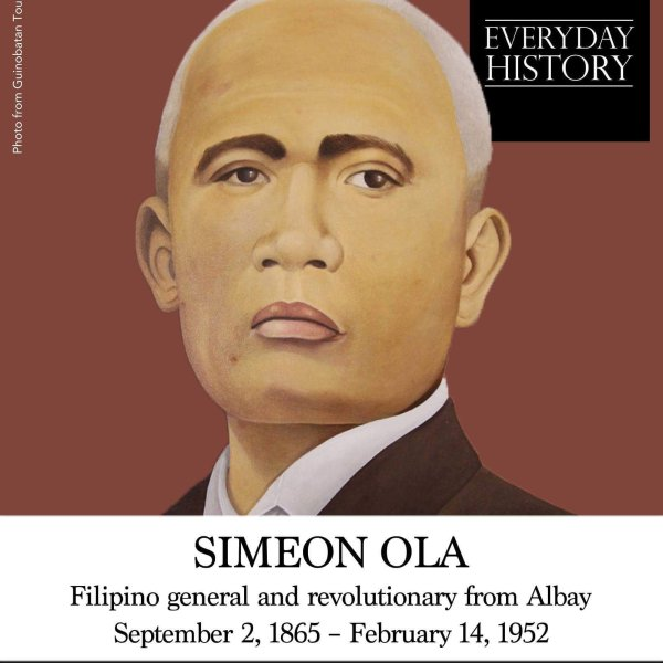 September 2 2021 declared holiday in Albay for 'Simeon Ola Day'