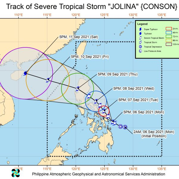 #WalangPasok – Work and class suspensions for September 7 2021 due to typhoon 'Jolina'
