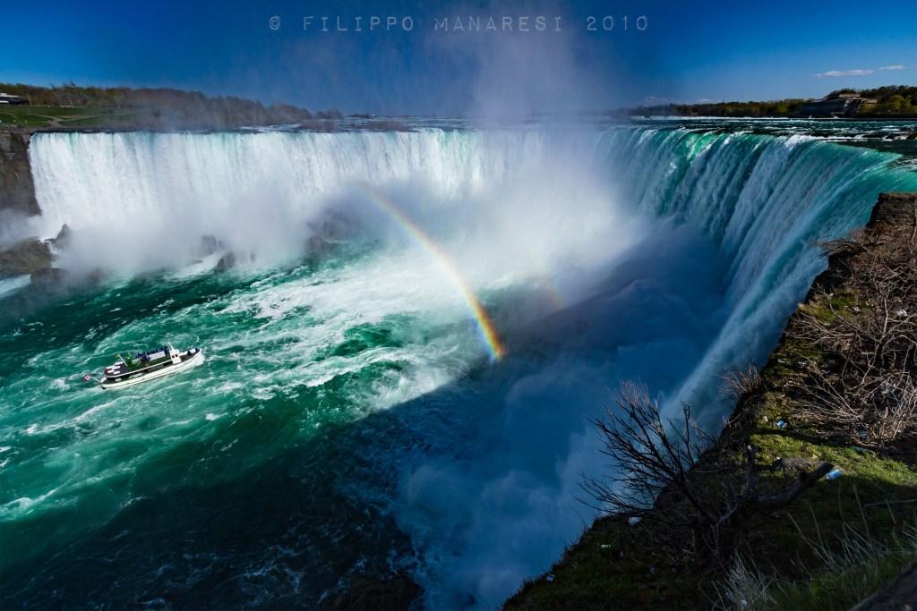 Niagara Falls, Canada, boat, rainbow, nature, landscape