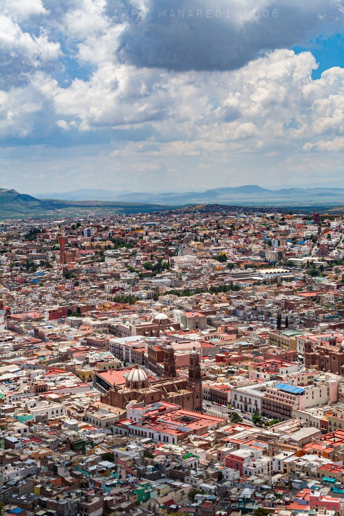 Zacatecas, Mexico, Cerro de la Bufa, view, landscape, church, cathedral, town, city, cityscape, clouds