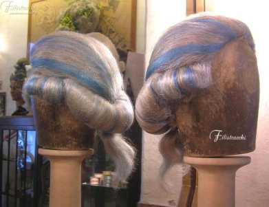 parrucca stile 700 grigia e azzurra da uomo in yak art-700UMAR Maresciallo