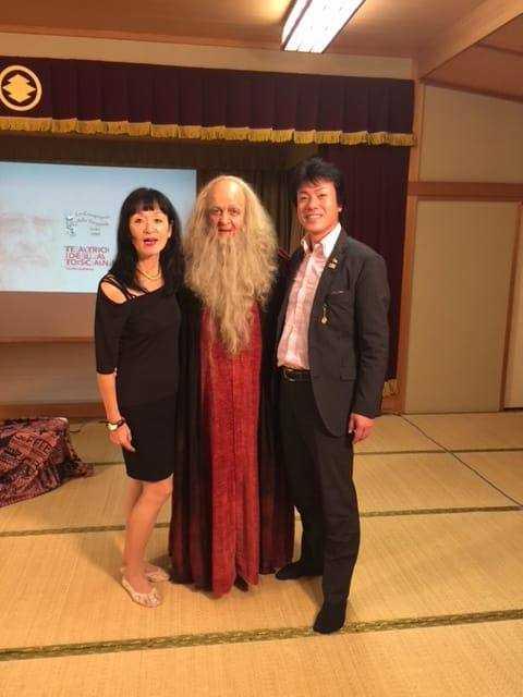 Kazuko Usui - Fabio Baronti - Miyoko Omote organizatore dello spettacolo a Nara