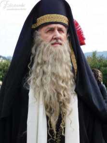 Barba e baffi da Sacerdote realizzati a mano in capello naturale