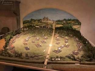 La ricostruzione della battaglia di Anghiari al Museo della Battaglia