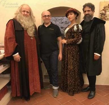 da Sinistra Fabio Baronti, Gherardo, Maya Quattrini, Luca Cartocci