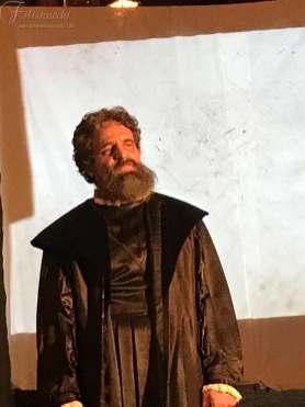 Luca Cartocci nei panni di Michelangelo Buonarroti in occasione della replica ad Anghiari 2019