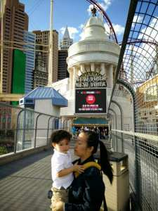 Flying Lad Las Vegas with a toddler bridge