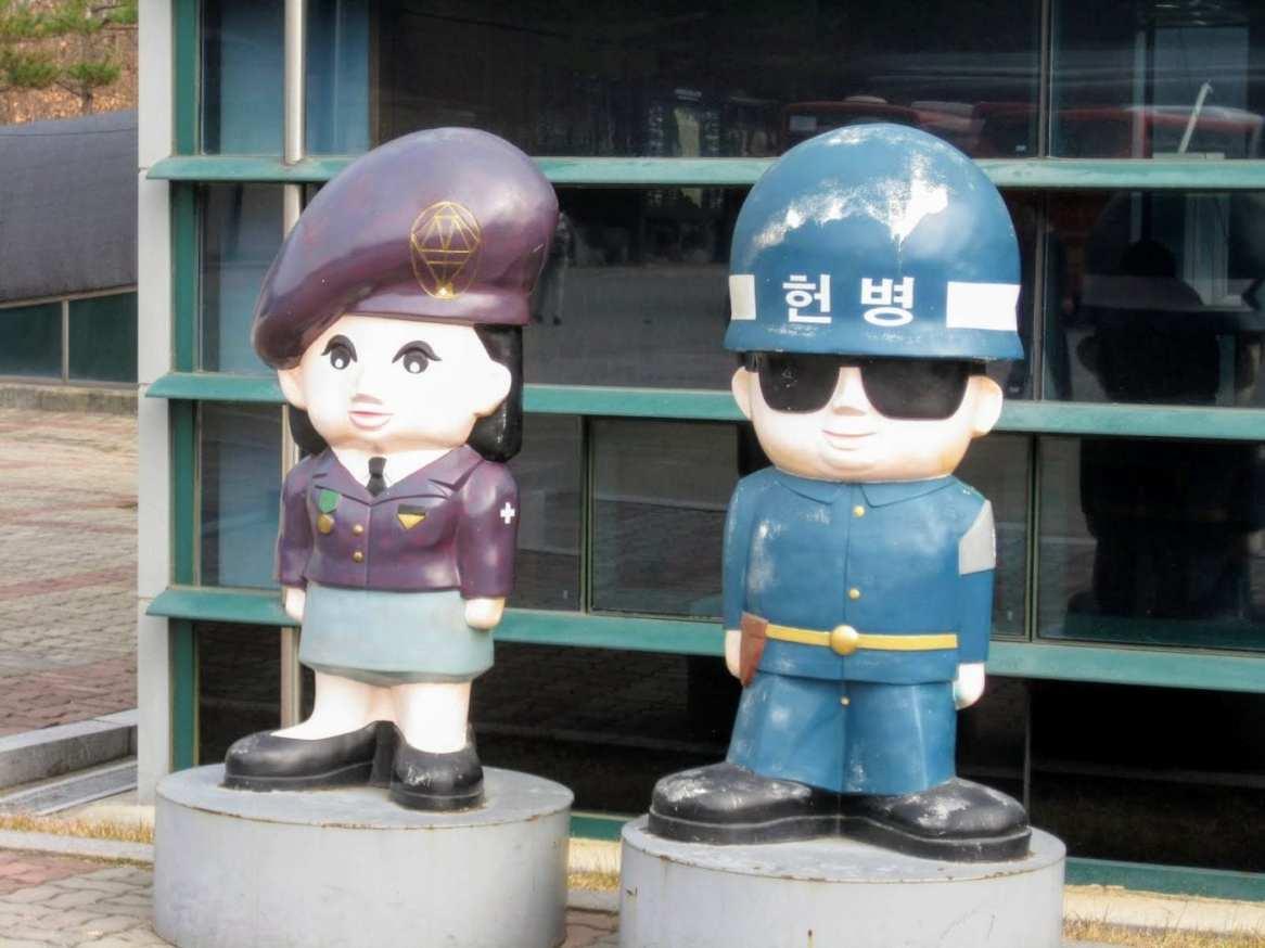Koreans can even make war zones adorable