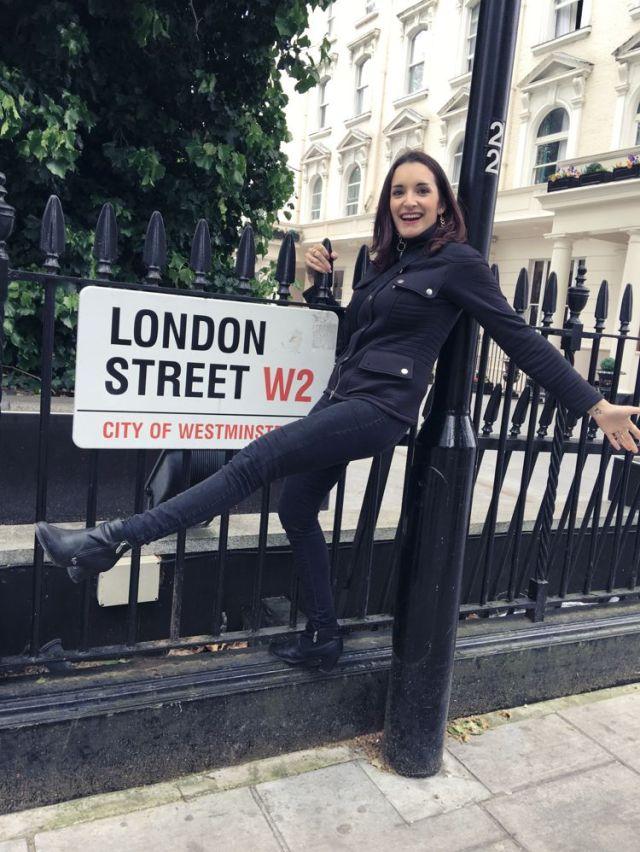 london street panneau