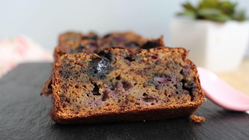 Recette Banana bread blueberries au lait de coco