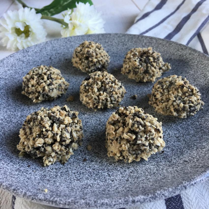 Energy balls tahini et pépites de chocolat