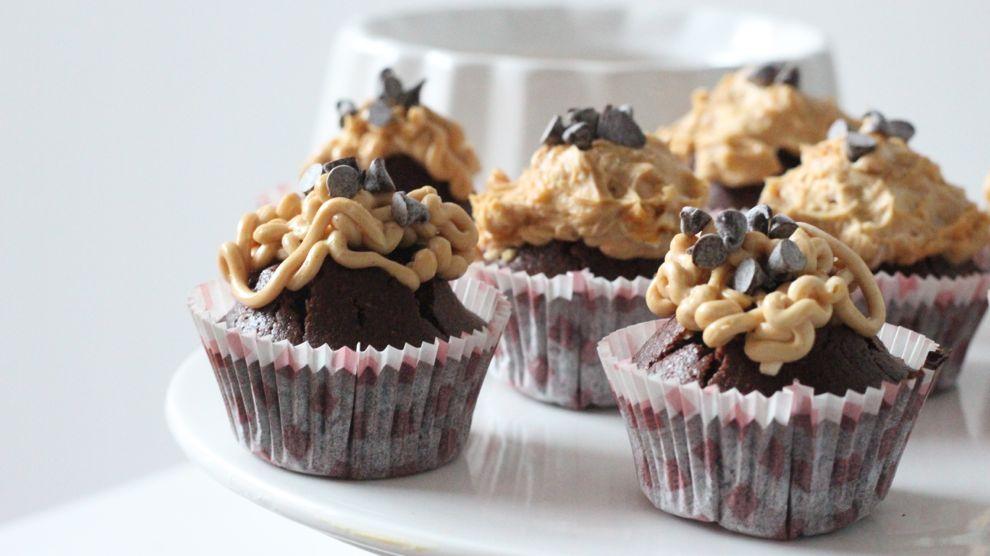 Cupcakes au chocolat et beurre de cacahuètes
