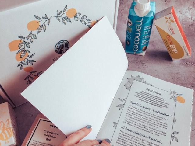 Naturo box, une box bien être, des aliments healthy, des objets écologiques.