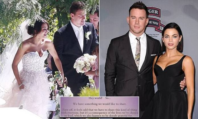 Channing Tatum, Jenna Dewan, announced, Separation, after, eight, years, marriage