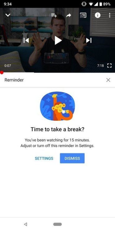 Youtube, Update, Feature, Remind, Take a Break, Notifications, Android, Devices