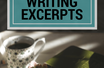 Writing Excerpts - April 4, 2016 | www.fillingthejars.com | Welcome to Week #9 of Random Musings - bunnies, introverts, a little fiction, etc. This series was inspired by Jeff Goins' My 500 Words writing challenge. Includes a link to new-to-me writing prompts.