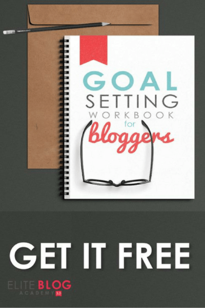 EBA free goal setting workbook for bloggers