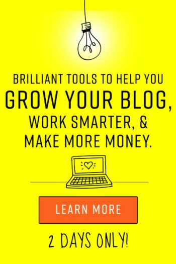 The Genius Bloggers Toolkit - Get the tools you need to erase the overwhelm of blogging, start enjoying the process, and earn more money! Sign up to be notified when the bundle goes live!