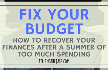 How to Create the Perfect Post-Summer Budget | Worried because you spent too much this summer? Click through for tips to create the perfect post-summer budget today!