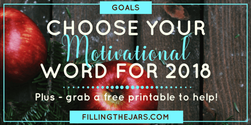 Having ONE personal motivational word as a touchstone for everything you do during the year should not be underestimated. Click through to read more and grab a free printable for choosing your own word. | #motivation | #wordoftheyear | #inspiration | #essential2018