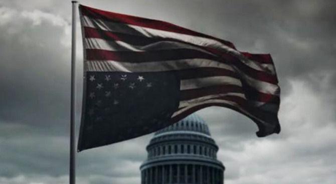 Risultati immagini per bandiera americana rovesciata