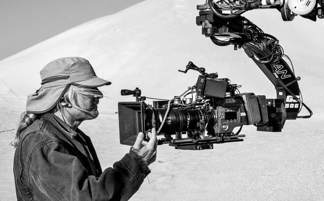 Claudio Miranda, ASC with Sony F65, Fujinon Premier 24-180 Zoom, Cinematography Electronics Cine Tape Measure, Chapman G3 Head Photo © David James, Universal  Pictures