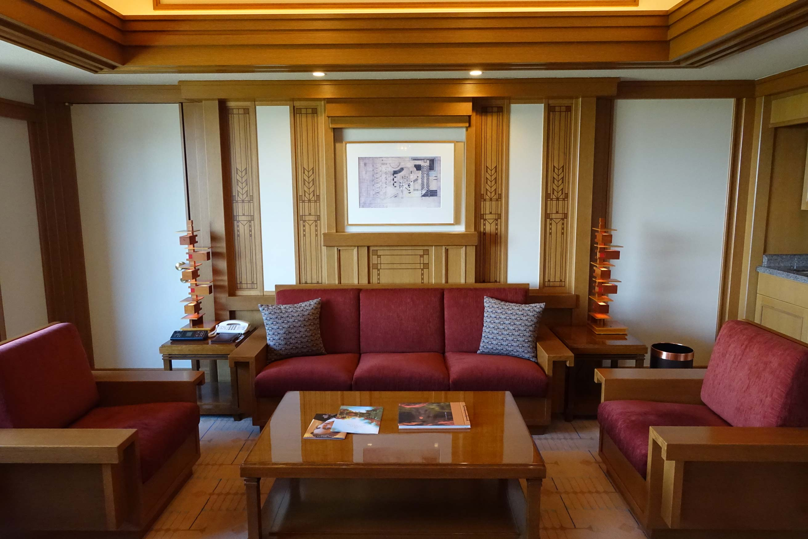 Frank Lloyd Wright Imperial Hotel Guest Rooms