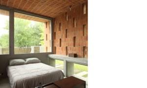 obra casa pilar dormitorio