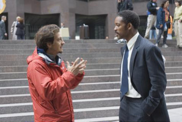 Gabriele directing Will Smith on set
