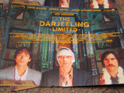 Poster of The Darjeeling Limited in Leicester Square on closing night
