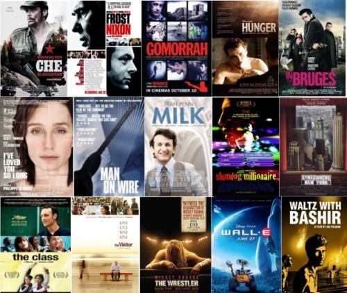 Best films of 2008 mosaic