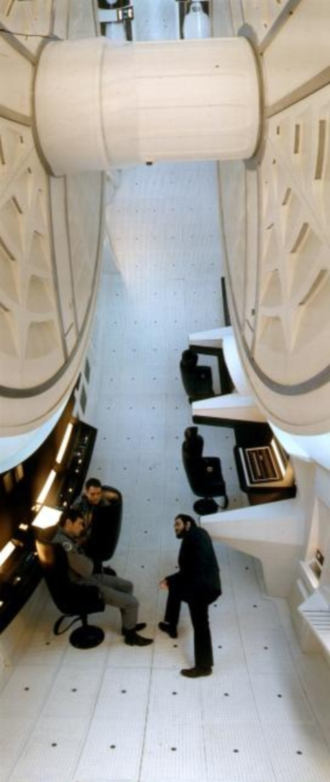 Stanley Kubrick on the set of 2001